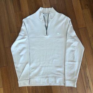Men's Large Burberry Quarter Zip Sweater